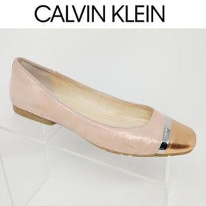 Calvin Klein Women's Rose Gold Pink Sparkle flats